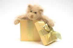 Christmas Present. Teddy bear in Christmas present Royalty Free Stock Photography
