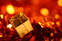Christmas present. Shallow depth of field royalty free stock photo