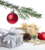 Christmas Present. Under a christmas tree Royalty Free Stock Images