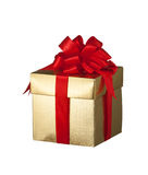 Christmas present. A box of Christmas present given as gift Royalty Free Stock Images