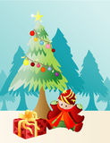 Christmas present. Illustration vector background Christmas present Royalty Free Stock Image