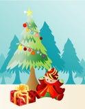 Christmas present. Illustration vector background Christmas present royalty free illustration
