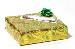 Christmas Present. Gift on white background Royalty Free Stock Images