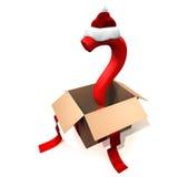 Christmas present 3D concept Stock Image