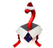 Christmas present 3D concept Stock Images