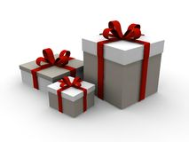 Christmas Present 3d gift box Stock Images