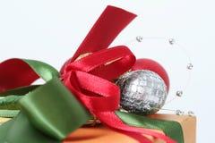 Christmas Present. Macro of nicely wrapped Christmas gift Stock Photography