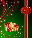 Christmas present background Stock Photo