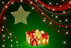 Christmas present background Stock Photography
