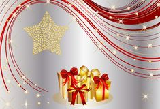 Christmas present background Stock Image