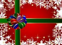 Christmas present background Stock Photos