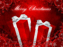 Christmas present background Royalty Free Stock Image