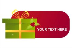Christmas present banner Stock Photo