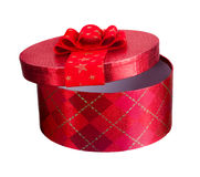 Christmas Present with Bow Royalty Free Stock Photos