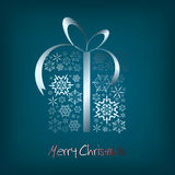 Christmas present box. Made from metal snowflakes (vector Royalty Free Stock Image