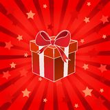 Christmas present box Royalty Free Stock Photos