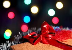 Christmas present box Royalty Free Stock Photos