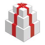 Christmas present box Stock Photos