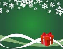 Christmas present box Stock Photo