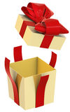 Christmas Present (box) with Bow Royalty Free Stock Image