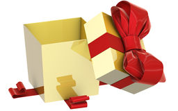 Christmas Present (box) with Bow Royalty Free Stock Images