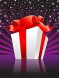 Christmas present box with a bow. Fully editable  illustration Stock Photography