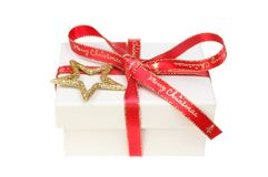 Christmas present box royalty free stock images