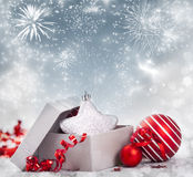 Christmas present box Royalty Free Stock Photo