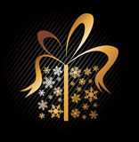 Christmas present box made from snowflakes Royalty Free Stock Photo