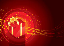 Christmas present box magic Stock Photo