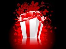 Christmas present box with reflection. Fully editable vector illustration Stock Photos