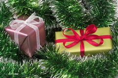 Christmas present boxes Royalty Free Stock Image