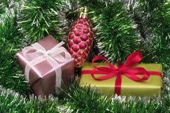 Christmas present boxes Stock Photo