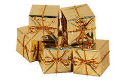 Christmas present boxes Stock Photo