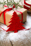Christmas Present and christmas tree decoration Stock Images