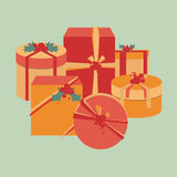 Christmas present collection Royalty Free Stock Photos
