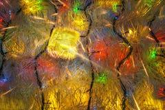Christmas present and color Garland Stock Photo