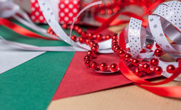 Christmas present on craft paper Royalty Free Stock Photo