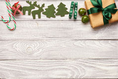 Christmas present and decoration Stock Photos