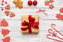 Christmas present and decoration Royalty Free Stock Image