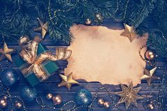 Christmas present and decorations Stock Photography