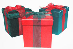 Christmas Present Gift Box Stock Images