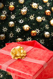 Christmas present gift box Royalty Free Stock Images