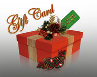Christmas present gift card Stock Photo