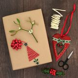 Christmas Present Gift Wrapping Royalty Free Stock Photos