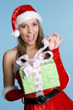 Christmas Present Girl Royalty Free Stock Photo