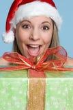 Christmas Present Girl Stock Photos