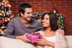 Christmas present for her. Stock Image