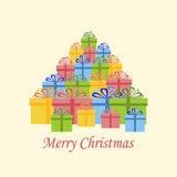 Christmas Present icon. On the white background. Vector illustration Royalty Free Stock Images