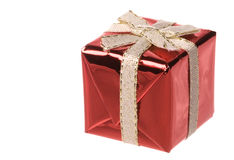 Christmas Present Isolated Stock Photography